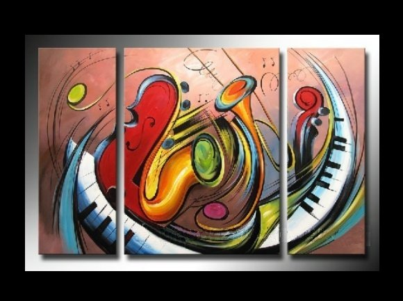 Free-Shipping-Modern-Oil-Painting-On-Canvas-font-b-Music-b-font-Series-The-Modern-Wall